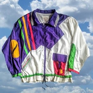 80s Stripe Track Jacket